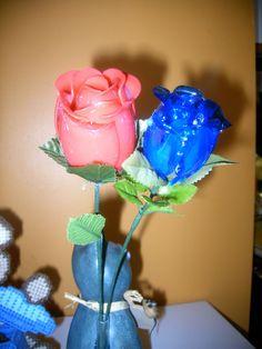 Roses fais avec des cuillères de plastique / Roses do with plastic spoons