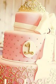 pink and gold party cake