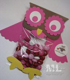 OWL Valentine treat bag