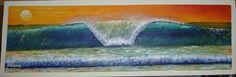Sunset Wave óleo/acrílica sobre madeira