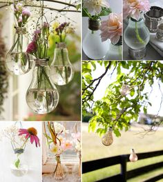 YES - in my house, at a wedding, i am in love with light-bulb-vases-wedding-DIY