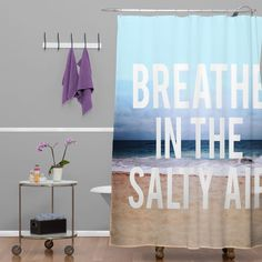 Leah Flores Breathe Shower Curtain | DENY Designs Home Accessories