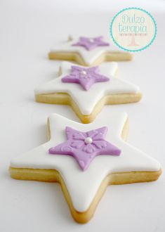 estrellas fondant Fondant Cookies, No Bake Cookies, Pasta Cake, Princess Cookies, Dessert Decoration, Royal Icing, Biscotti, Cookie Decorating, Cake Pops