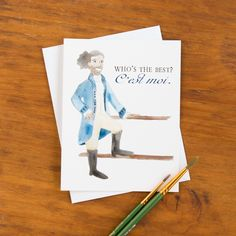 """Hamilton Lafayette """"Who's the Best?"""" Greeting Card"""