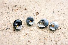świecznik z muszelek, shells diy upcycling