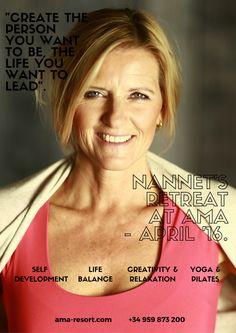 Nannet es nuestra experta en Yoga, Pilates, Reiki, Body Shape... ¡Estará con nosotros todo el mes de abril! Nannet is our expert in Yoga, Pilates, Reiki, Body Shape... She'll be with us all April! #reiki #amaresort #ama #pilates #yoga #bodyshape #healthylife