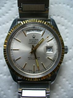 Vintage SICURA Breitling Day-date Rondamatic Swiss Men's Watch