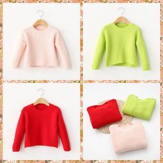 Cute Kids Boys & Girls Candy Color Knitting Crochet Pullover Sweater Tops Sweet Children Christmas Crochet Red Green Pink Fall Sweaters From Smartmart, $11.18 | Dhgate.Com