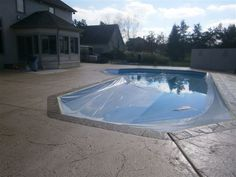 Finished pool deck.