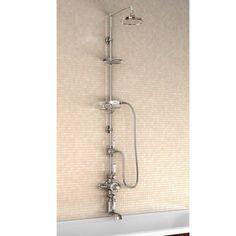 Burlington Avon Thermostatic Shower Valve, Rigid Riser & 9