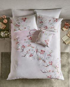 Housse de couette double en coton Oriental Blossom - Rose layette | cadeaux pour elle | Ted Baker FR