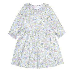 b153244a1c676 Liberty Print Loveliness Spanish Dress, Spanish Girls, Smock Dress, Cold  Shoulder Dress,