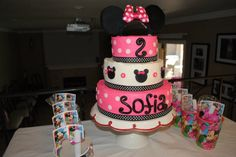 Sofia's 2nd Birthday Minnie Mouse Cake by @Marisa Russo