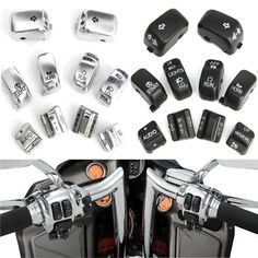 Motorcycle Hand Switch Housing Control Buttons Cover Cap For Harley Electra Glide. Motorcycle Hand Switch Housing Control Buttons Cover Cap For Harley Electra Glide    description:  this Is A Set Of Genuine Harley Davidson Hand Controls Switch Housing Buttons For Touring Models.  a Good Replacement For Your Old Or Non-working Original.    specification:  color: Chrome, Black  material: Plastic    fitment:   fit For 1996- 2013 Flht, Flhtc, Flhx, Fltrx And Flhxxx Models Equipped With Cruise…