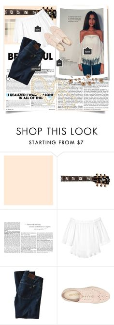 """""""Untitled #36"""" by kornelialia ❤ liked on Polyvore featuring Gibson, BCBGMAXAZRIA, Rebecca Taylor, DL1961 Premium Denim, Cole Haan, Louche, white and jeans"""