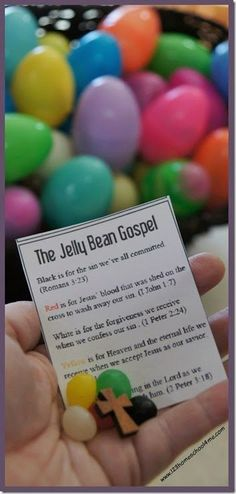 Jelly Bean Gospel for Kids - this is such a fun Easter Activity for kids to use as a bible craft, outreach, Sunday School lessons, etc. Includes FREE Printable for Kindergarten, 1st grade, 2nd grade, 3rd grade, 4th grade - LOVE THIS!