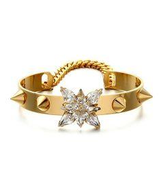 Diamante Rivets Bracelet in Punk Style - #bracelets #bangles #jewelry #gold #fashion #classy  #shopping #statement #crosses #armcandy