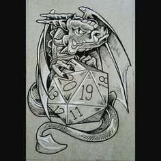 D&D tattoo