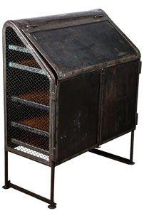 raw vintage metal desk with wood shelves - ABC Carpet & Home ($500-5000) - Svpply