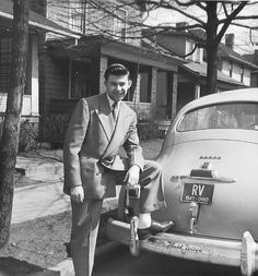 Easter Sunday, 1947. Dad leaning on bumper of grandfather's Dodge (with Fluid Drive no less!). Looking good!