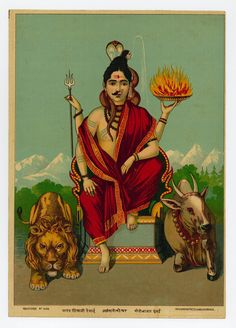 Shiva is the Lord of the Sabbath. Shiva is Lord of Yoga, Loosing the Seven Seals.Shiva meant Seven throughout the ancient world. Shiva Shakti, Hindu Shiva, Shiva Art, Hindu Deities, Hindu Art, Old Paintings, Indian Paintings, Abstract Paintings, Om Namah Shivaya