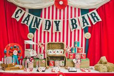 Circus vintage birthday party! See more party planning ideas at CatchMyParty.com!