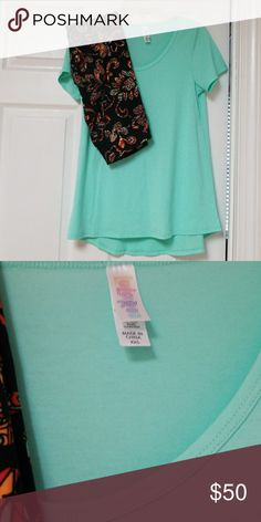 Lularoe classic t mint green UNICORN & os leggings Mint green xxs classic t and matching one size legging. Worn once and washed once per LLR instructions. LuLaRoe Tops Tees - Long Sleeve