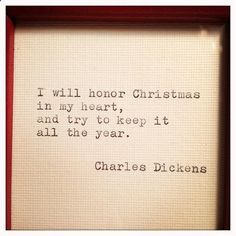 Superbe Charles Dickens Quote About Christmas