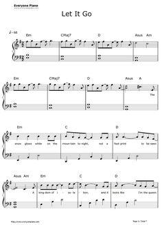 Free Let It Go Easy Version-Frozen Theme Sheet Music Preview 1 #flychord #flychordpiano #dp420k