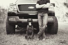 Need a picture with Tanner, Max and Grandpa's truck. (But it should show his face)