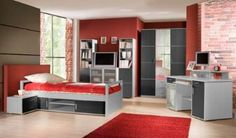 Our Donau bedroom suite is a modern grey panel design, suitable for younger living. You can view this design at Chromatiche