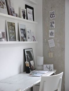 Work space , wall decor