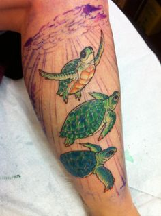 Part one of turtle trio tattoo Inked on Dec11,2014