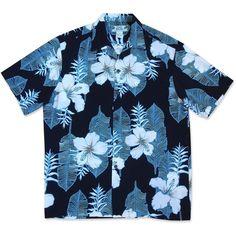 Dream Hibiscus Hawaiian Rayon Shirt ($45) ❤ liked on Polyvore featuring tops, hawaiianshirt, shirt top, hawaiian shirts, rayon tops, blue hawaiian shirt and hawaiian flower shirt