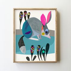 The Bilby Limited Edition - inaluxe Modern Prints, Fine Art Prints, Original Art, Original Paintings, Mid Century Art, Mosaic Projects, Bird Drawings, Art Auction, Painting Inspiration