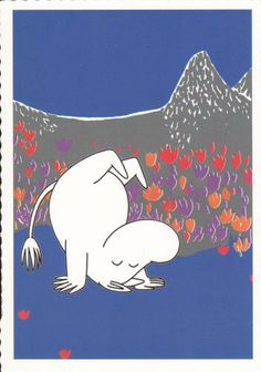 Moomin!!! (do in a poster on gallery wall)