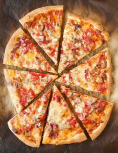 Recipe: Pizza with Roasted Red Peppers, Sausage & Jack Cheese