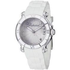 Chopard Happy Sport Silver Dial Floating Diamond Ladies Watch 278551-3001