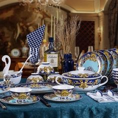 Shop for Tres De La Mer luxury fine china dinnerware 58 piece service for 6 including the tea set. Get free delivery at Overstock.com - Your Online Kitchen