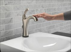 Bathroom sink faucet handle repair