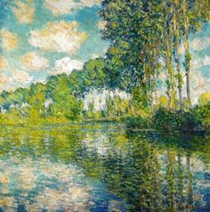 Claude Monet - Poplars on the Epte, 1891 at the National Gallery of Scotland Edinburgh Scotland by mbell1975, via Flickr