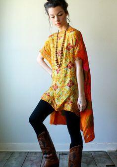 crop caftan dress