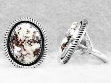 Navajo Ring Size 8½ Wild / Crazy Horse Sterling Silver Native American Indian