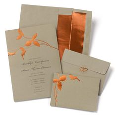Copper Branches Wedding Invitation Kit