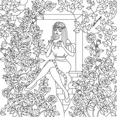 The #sneakpeek for the next Gift of The Day tomorrow. Do you like this one? #Lady #Flower #Window ••••••••••• Don't forget to check it out tomorrow and show us your creative ideas, color with Color Therapy: http://www.apple.co/1Mgt7E5 ••••••••••• #happycoloring #giftoftheday #gotd #colortherapyapp #coloring #adultcoloringbook #adultcolouringbook #colorfy #colorfyapp #recolor #recolorapp #coloringmasterpiece #coloringbook #coloringforadults