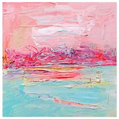 What beautiful hues. I love abstract paintings with soft colors that evoke a feeling of serenity.