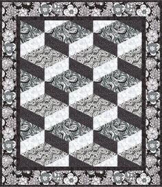 Steppin'Out quilt pattern by L studios using Licorice Fizz by Carol Van Zandt and Andover fabrics
