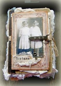 Cover ~use a lot of fabric, lace, paper and paint. by jana