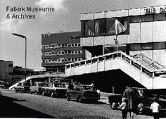 Falkirk- Callendar Riggs Shopping Centre. Showing the staircase leading up to Goldbergs.