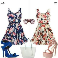 Floral Summer Dresses Outfit. Lovely and romantic styles.
